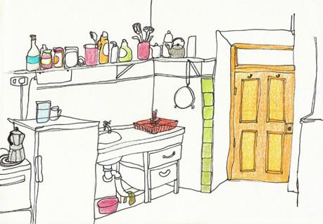 keukenblok door Odette Muijsers