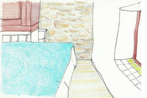 tekening Odette slaapkamer 480x320