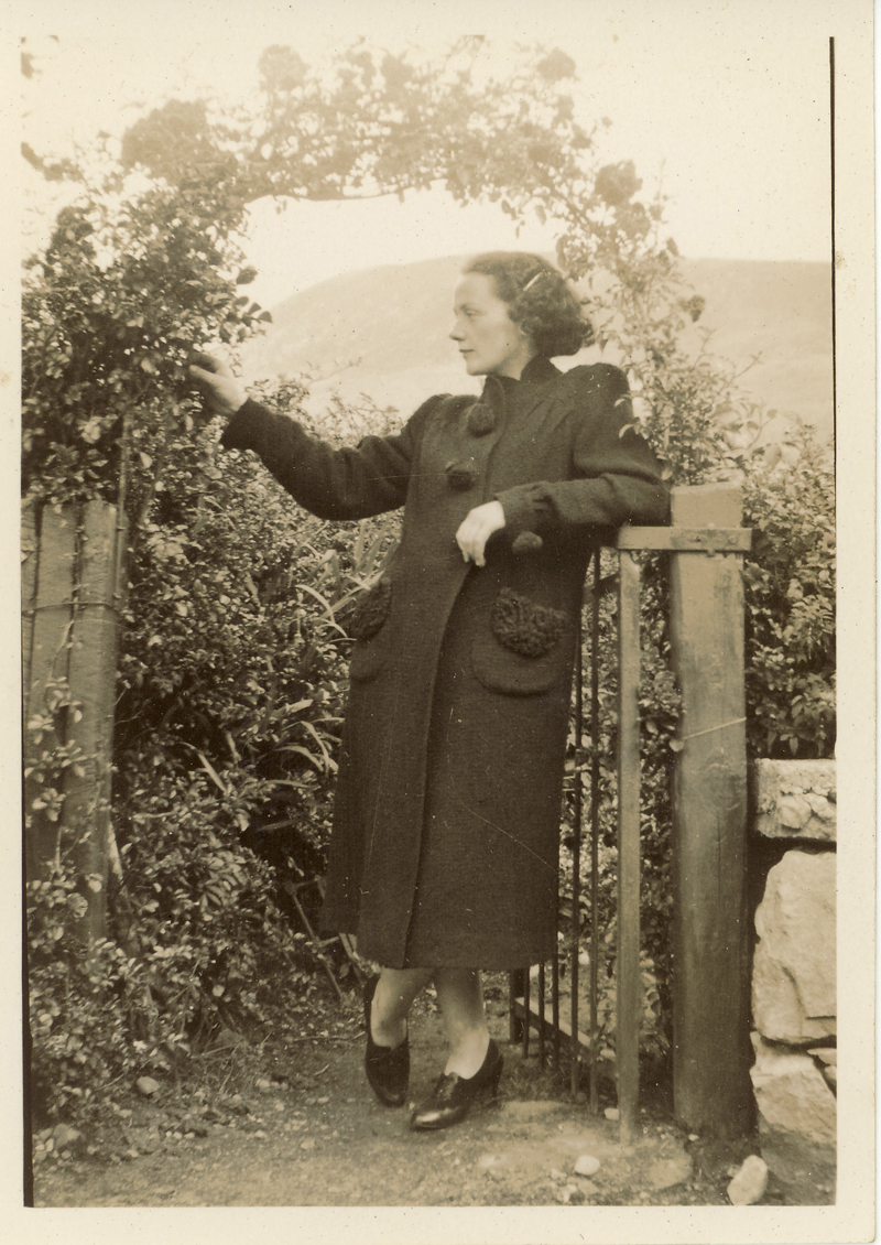 Patty in Polranny Garden, photograph from the Sweeney family archive, courtesy of Charles Tyrell