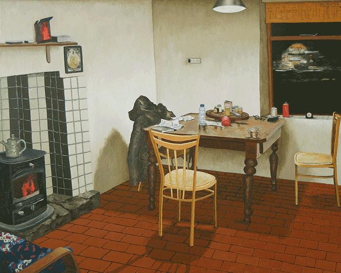 Polranny Huis, Keuken door Rik Hagt, 60 x 75 cm