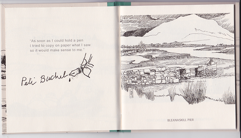 Achill Sketches Bleanaskill Pier © Peti Buchel