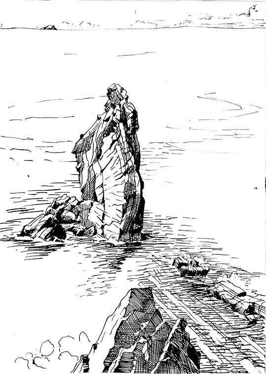 Achill Sketches by Peti Buchel, Dookinella