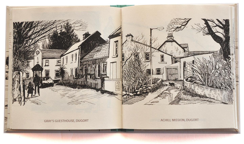 Achill Sketches, Gray's Guesthouse en The Mission © Peti Buchel