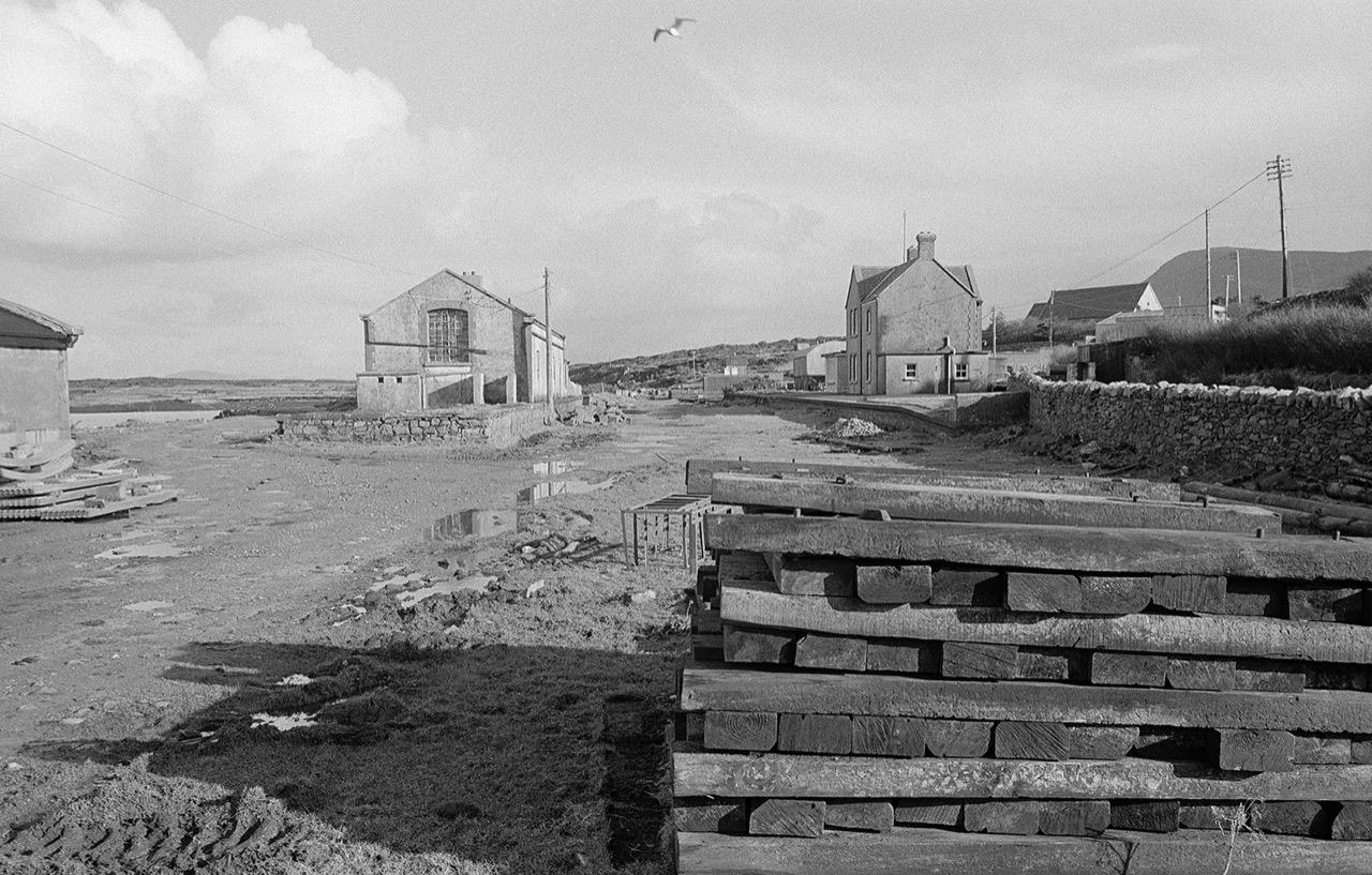Achill Sound, Old Railway Station, Achill 1974, Ireland