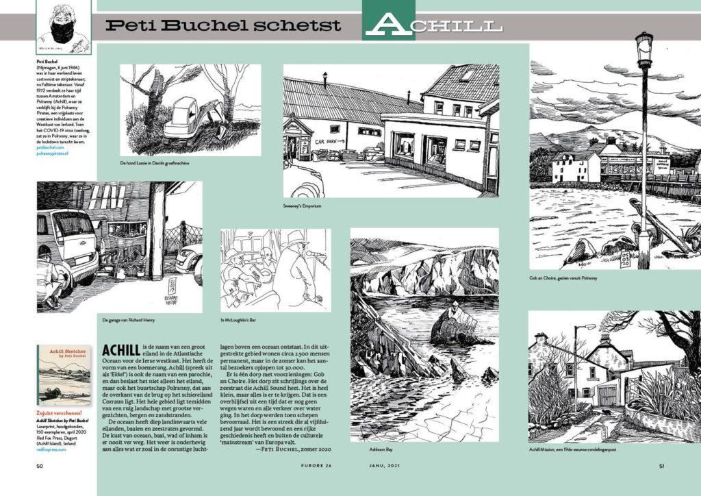 Furore Magazine number 26 Peti Buchel Full Spread Achill Drawings