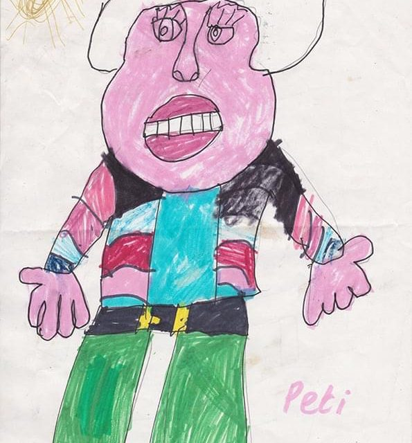 Portret of Peti Buchel by 7 year old Sheila Ahearne