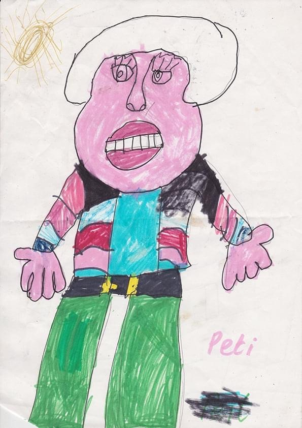 Portret of Peti Buchel by 7 year old Sheila Ahearne