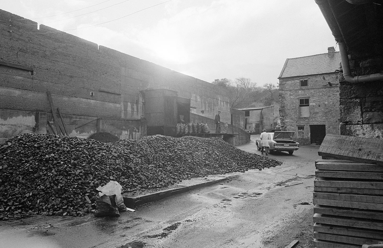 Westport O'Malley Shop street at the Coal Yard Mayo 1974 by Con Mönnich